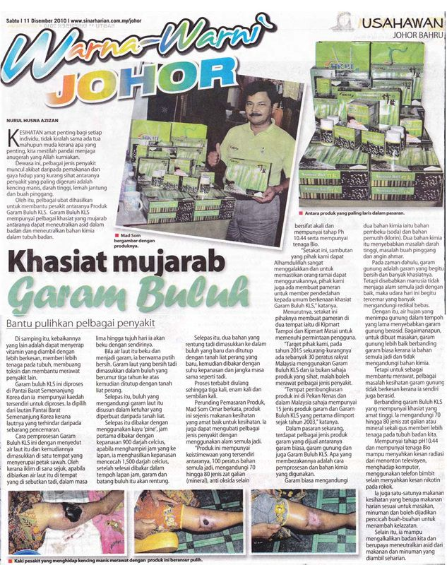 hk3 bamboo salt featured on malaysia newspaper sinar harian