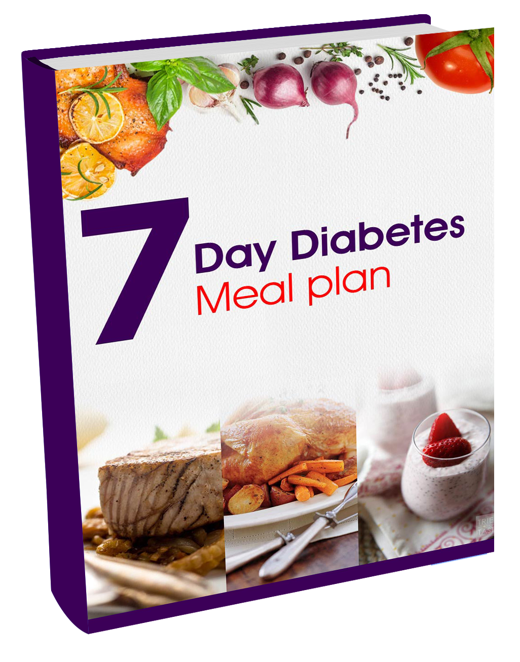 7 day diabetes meal plan book cover